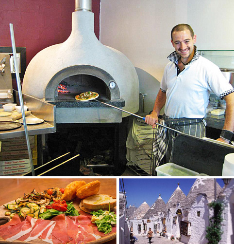 Trulli Pizza, our March dinner destination